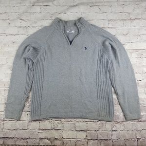 US Polo Association Ralph Lauren Gray Sweater Zip
